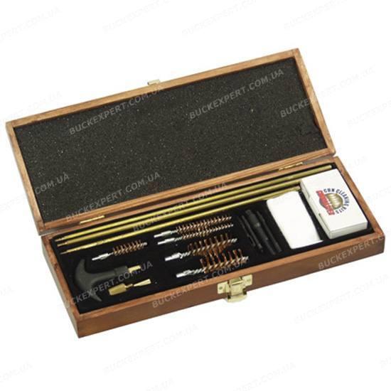 Набор DAC для чистки оружия в деревянном кофре из 17 предметов универсальный