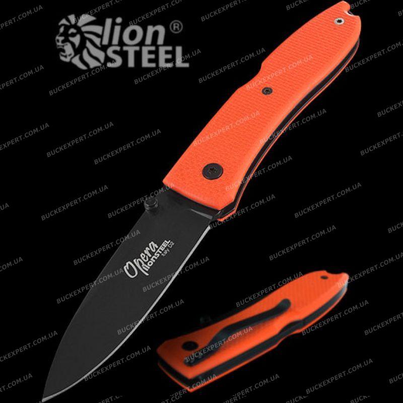 Нож LionSteel Big Opera G10 лезвие 90 мм рукоять оранжевая