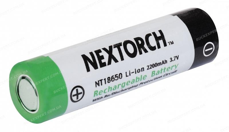 Аккумуляторная литиевая батарейка NexTORCH NT18650 в блистере