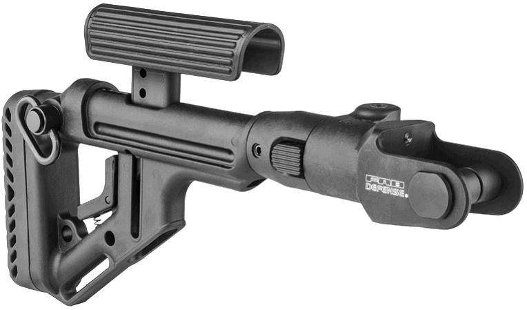 Приклад Fab Defense для АКМС складной с регулируемой щекой