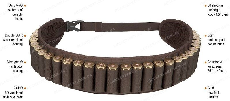 Патронташ - ремень Hillman Cartridge Belt на 30 патронов цвет OAK