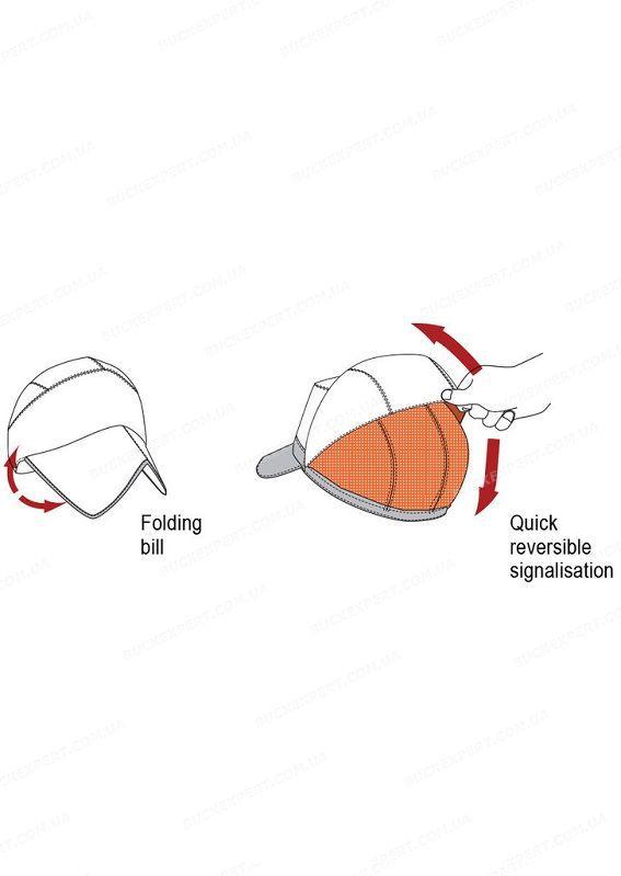 Кепка Hillman двухсторонняя складывающаяся с сигнальным верхом и маской цвет Wings