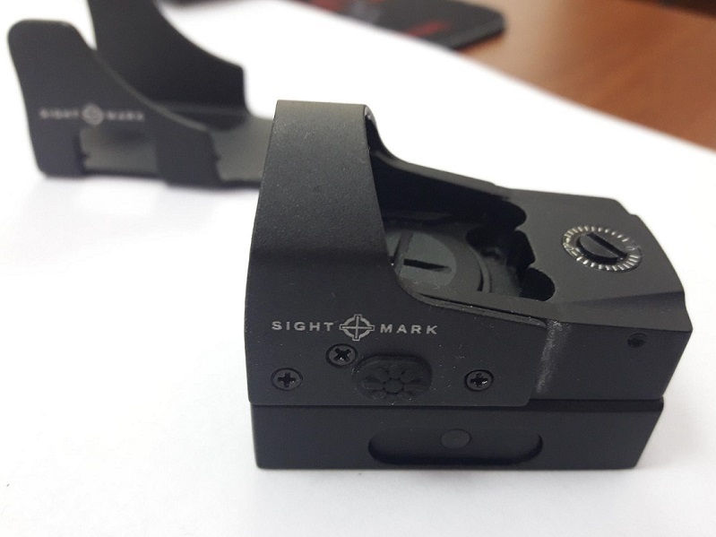 Коллиматорный прицел Sightmark Mini Shot Pro Spec с точкой 5 МОА на Weaver + крон.17 мм (AR-15)