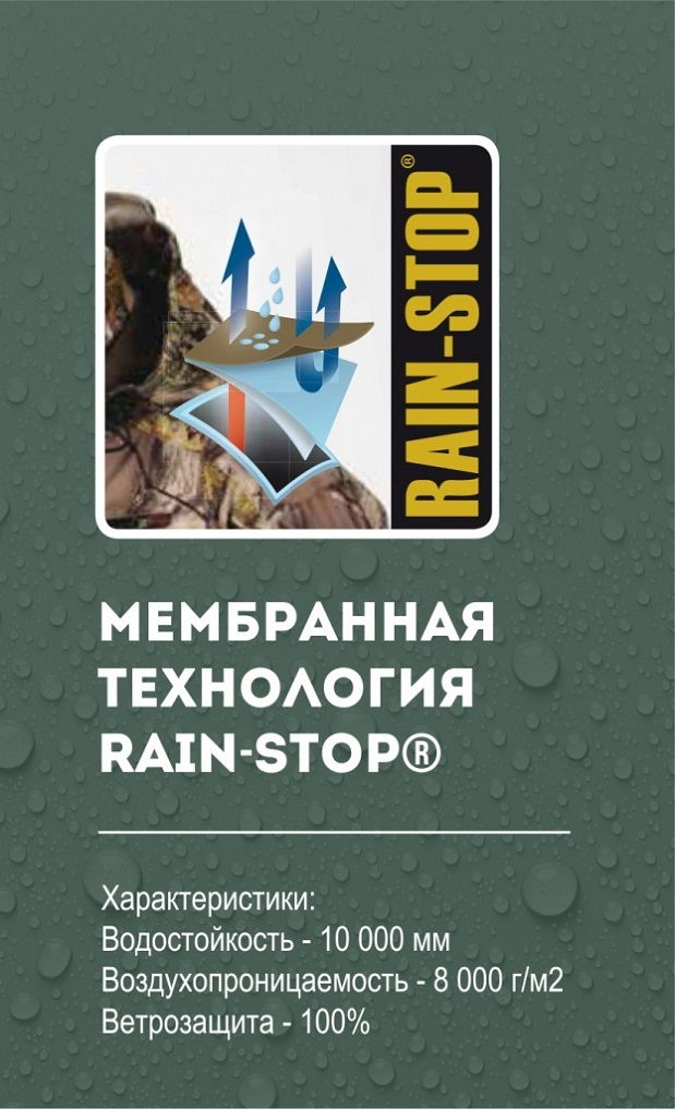 Костюм Alaska Superior BlindTech Invisible Safety Mix с мембраной Rain Stop 10000 / 8000 всесезонный