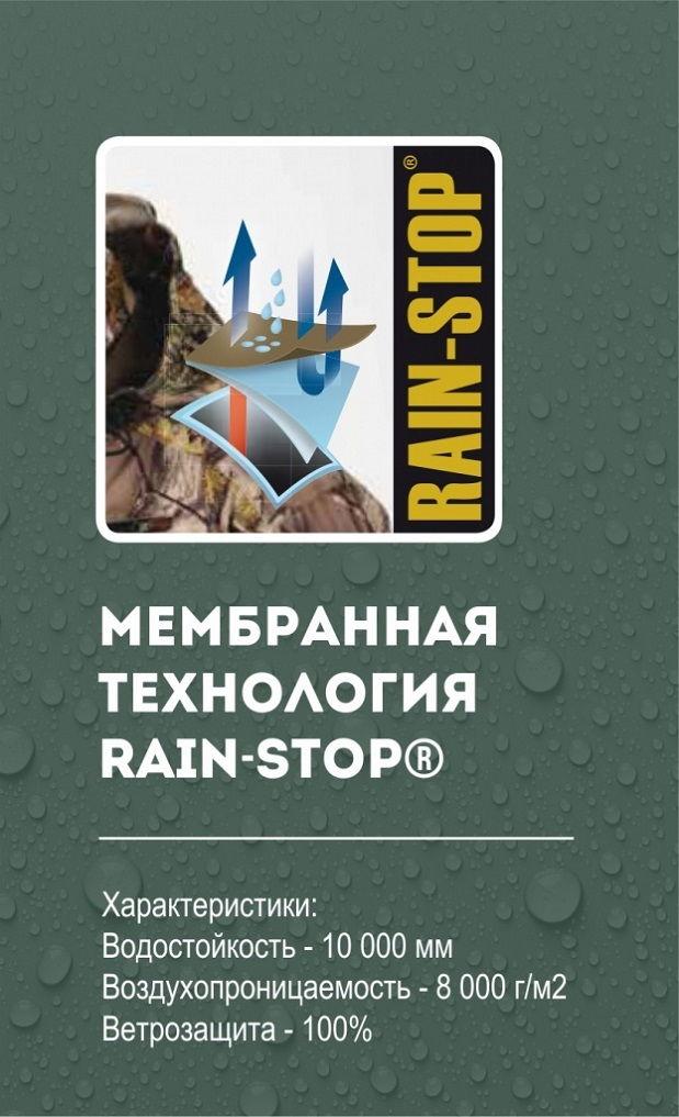 Костюм Alaska Vapor Blindtech Invisible с мембраной Rain Stop 10000 / 8000 на некоторых участках демисезонный