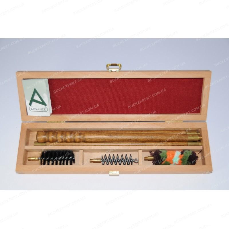Набор Advance для чистки гладкого оружия в деревянной коробке