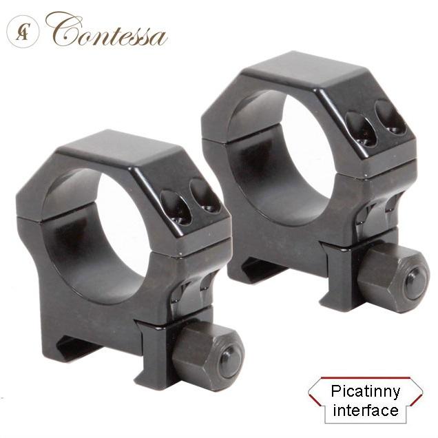 Кольца Contessa Alessandro 26 мм на Picatinny / Weaver легкосьемные стальные