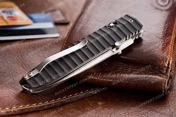 Нож LionSteel Daghetta FC с черным лезвием рукоять углеволокно и нейлон G10