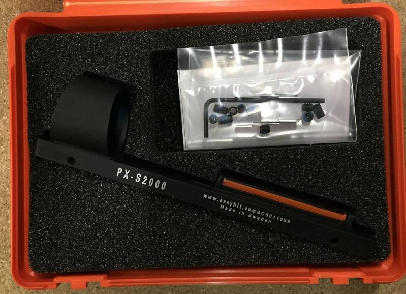 Коллиматорный прицел EasyHit PXS-2000 на планку оружия волоконно - оптический