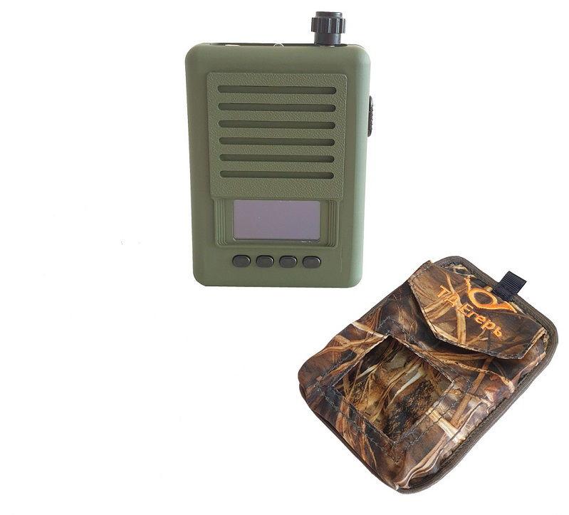 Манок Егерь - 6М и мощный рупорный динамик TK9-RU с картой голосов Украина в сумке и чехлах на манок и динамик