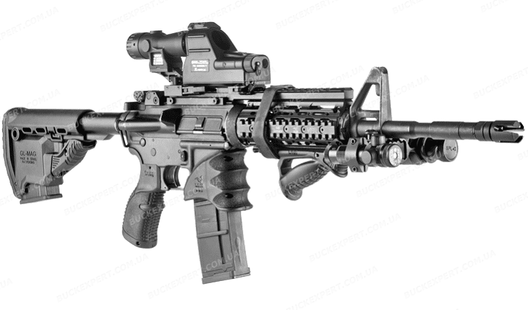 Рукоятка Fab Defense на магазин  M16 / M4 / AR-15 тактическая