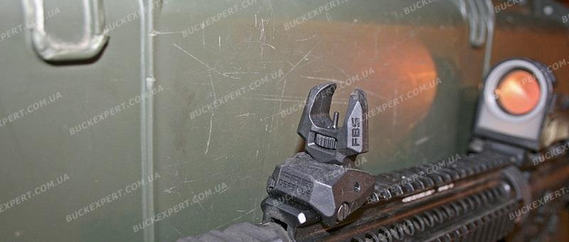 Целик складной Fab Defense диоптрический на планку Picatinny низкопрофильный
