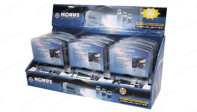 Фонарь Konus Konuslighter с зарядкой от прикуривателя