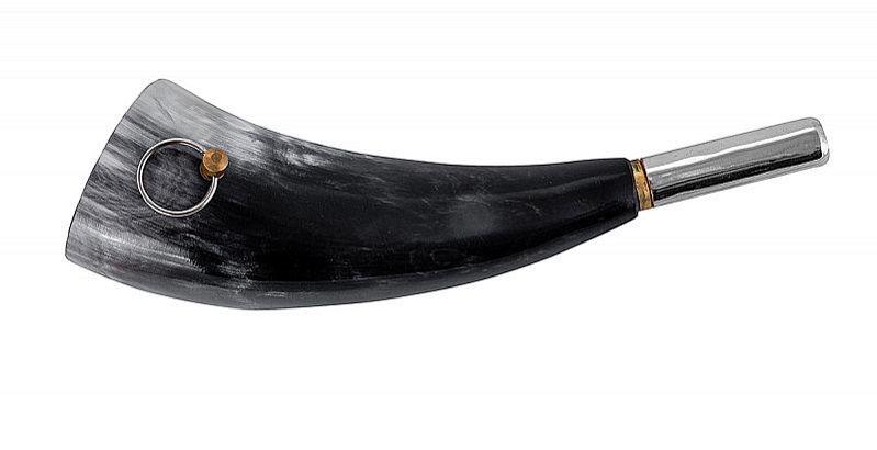 Горн охотничий из натурального рога длиной 20 см
