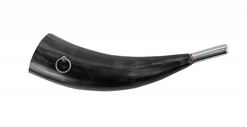 Горн охотничий из натурального рога длиной 27 см