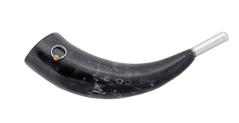 Горн охотничий из натурального рога длиной 33 см