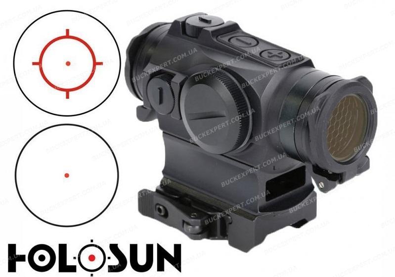 Прицел Holosun Paralow с батареей сбоку марка сменная + антиблик + U-защита + откидные прозрачные крышки