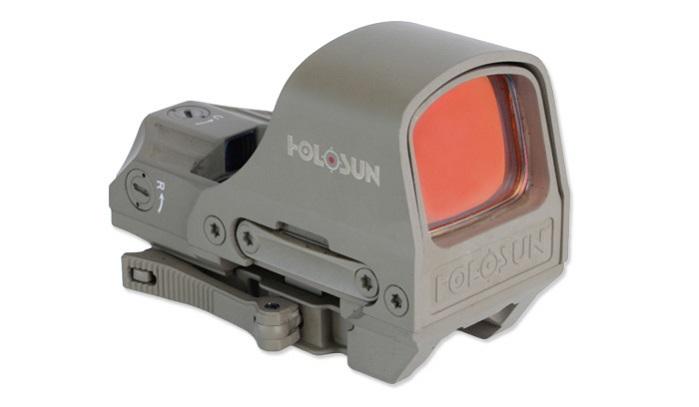 Коллиматорный прицел Holosun Open Reflex марка сменная красная песочный быстросьемный