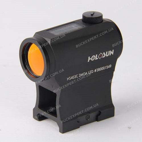 Коллиматорный прицел Holosun Paralow с солнечной батареей + кронштейн (AR-15) с красной точкой