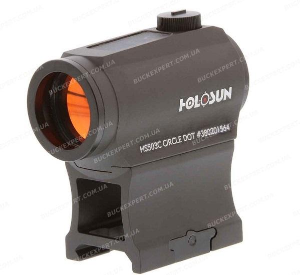 Коллиматорный прицел Holosun Paralow с солнечной батареей марка сменная + кронштейн (AR-15)