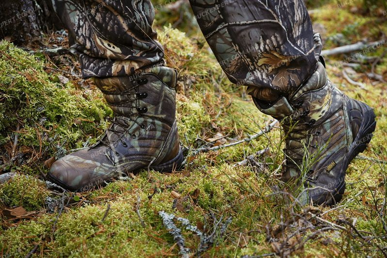 Ботинки Jahti Jakt Camo MID с мембраной Air-Tex и системой подавления запаха человека
