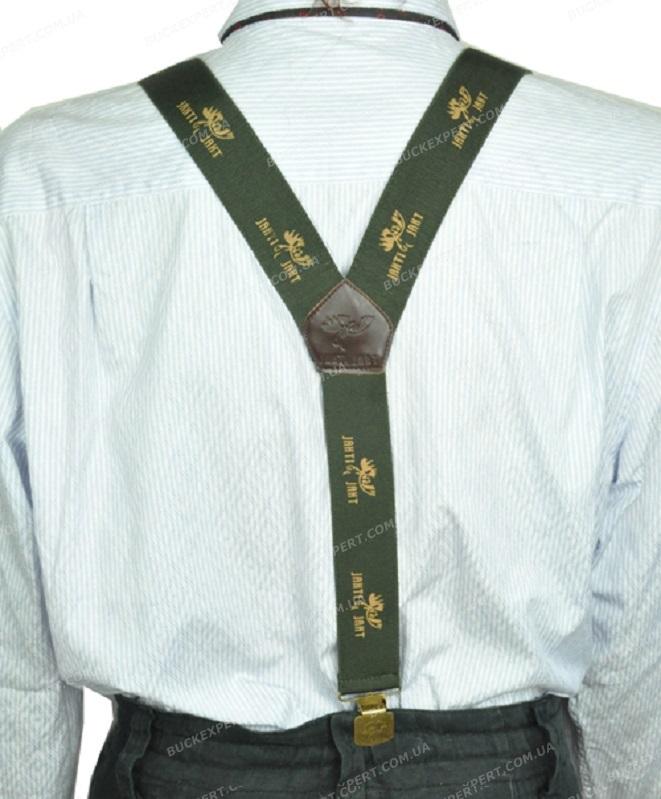 Подтяжки Jahti Jakt Kelo braces на клипсах или на пуговицах зеленые