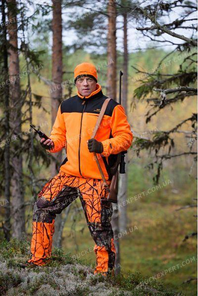 Куртка флисовая Jahti Jakt Posio с мембраной Air-Tex оранжевая из полиэстера толщиной 300 грамм