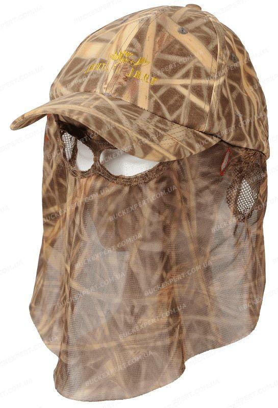 Кепка Jahti Jakt Forest Reed Camo с москитной сеткой камуфляжная