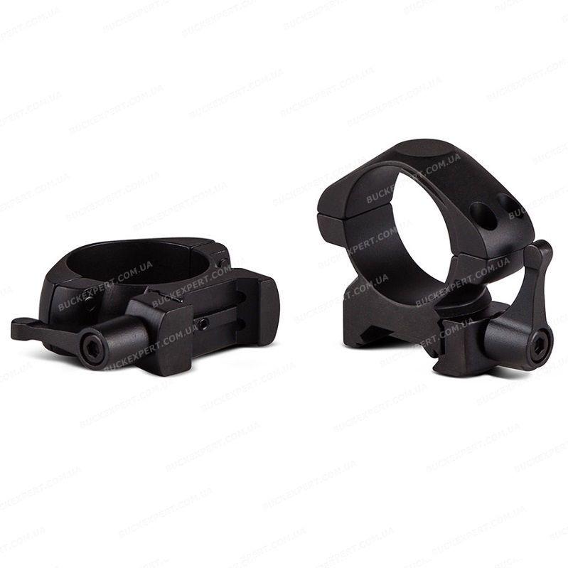 Кольца Konus на Weaver / Picatinny диаметром 30 мм стальные быстросъемные средние
