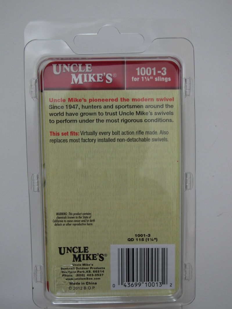Антабки Uncle Mike`s для болтовых винтовок комплект
