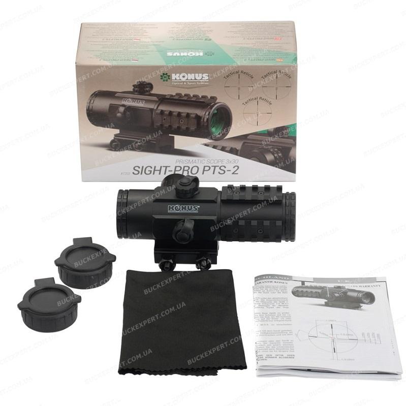 Коллиматорный прицел Konus SightPro PTS2 3х30 с тактической прицельной сеткой