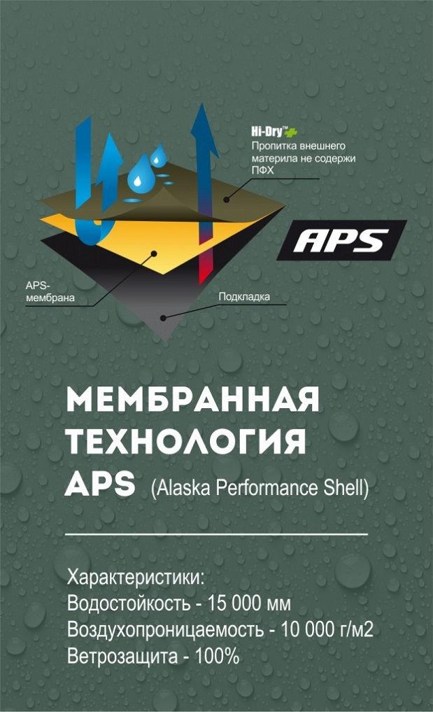 Костюм Alaska Apex BlindTech II с мембраной APS 15000 / 10000 женский всесезонный