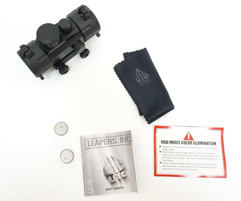 Коллиматорный прицел Leapers UTG 1х30 Compact с двухцветной точкой 4 МОА на Weaver не быстросъемный