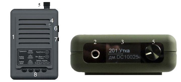 Манок Егерь - 56D и мощный рупорный динамик TK9-RU с картой голосов Украина в чехлах и сумкой электронный