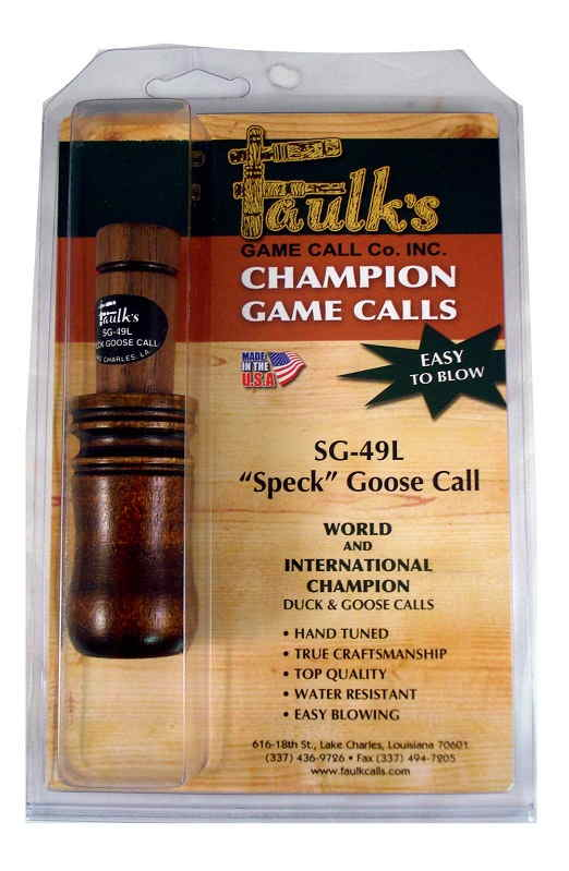 Манок Faulk's Large Specklebelly Goose Call на белолобого гуся и пискульку