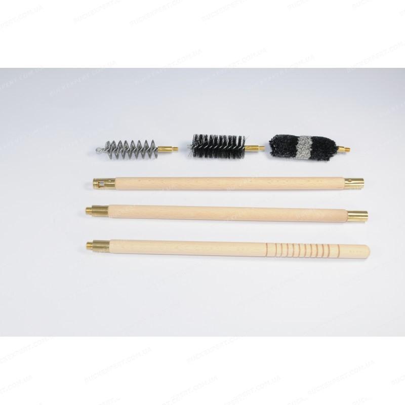Набор Advance для чистки гладкого оружия с деревянным шомполом п/э пакет