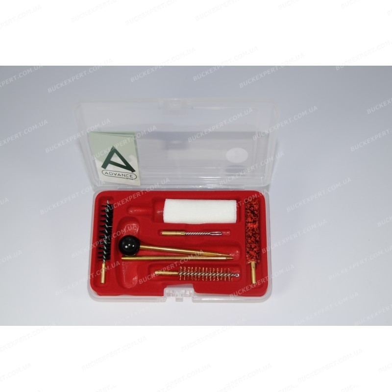 Набор для чистки Advance пистолетный калибр 4.5 мм в пластиковой коробке