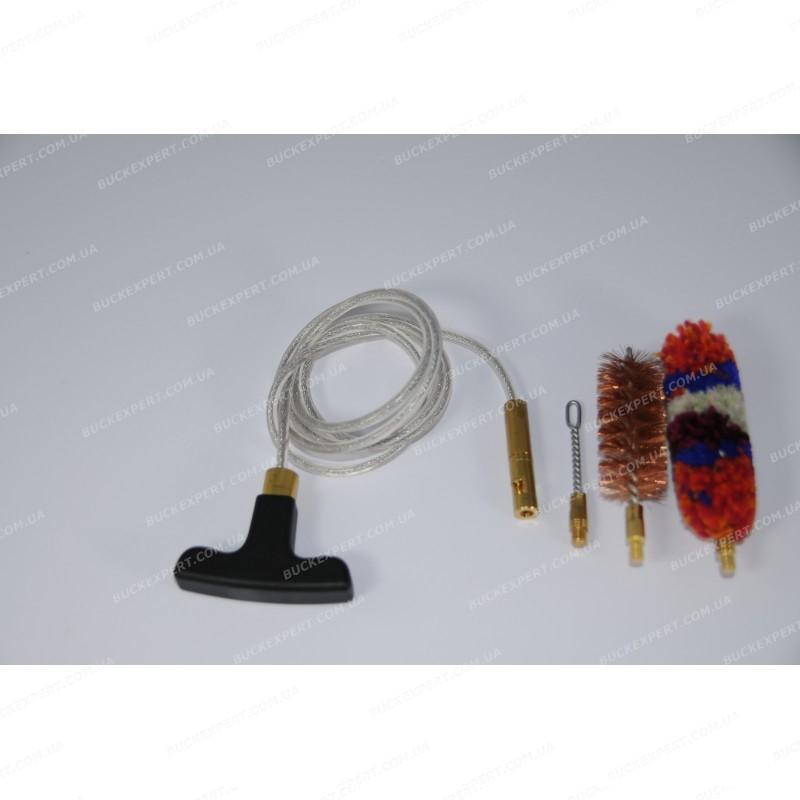 Набор Advance для чистки оружия с гибким шомполом вишером и 2 ершиками