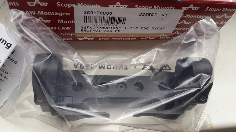 Моноблок EAW Apel с кольцами 26 мм на Picatinny / Weaver со сменным расстоянием быстросьемный