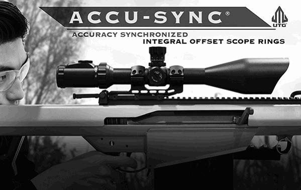 Моноблок Leapers UTG Accu-Sync 30 мм с выносом 34 мм небыстросьемный на Picatinny / Weaver