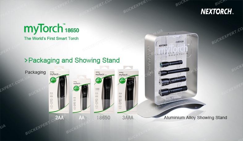Фонарь NexTORCH до 70 люмен USB программируемые режимы