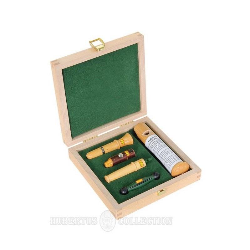 Набор манков Hubertus в деревяной коробке из 5 предметов