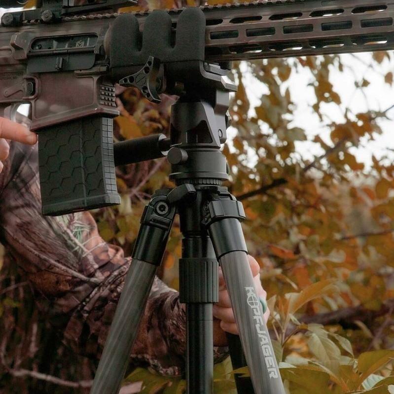 Опора Kopfjager K800 CF для оружия высотой от 19 см до 1630 см тактическая с держателем карбоновая