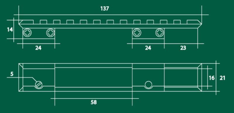 Кронштейн БелОМО с базой Weaver на CZ-527