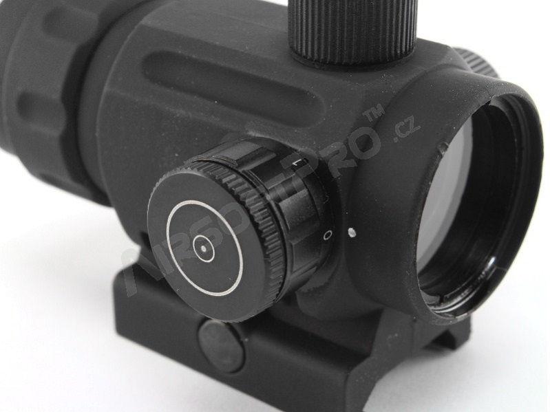 Прицел коллиматорный Discovery Optics 1x20 RDA с точкой 4 МОА на Weaver