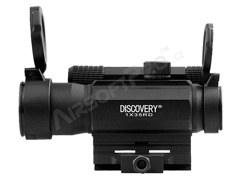 Прицел коллиматорный Discovery Optics 1x35 RD с точкой 4 МОА на Weaver