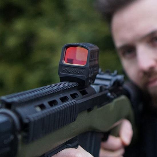 Прицел Holosun Enclosed Elite с солнечной батареей марка сменная красная в титановом корпусе быстросьемный
