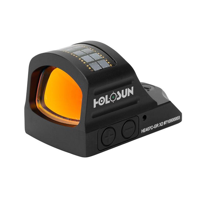 Прицел Holosun HE407C-GR X2 с солнечной батареей марка зеленая точка коллиматорный