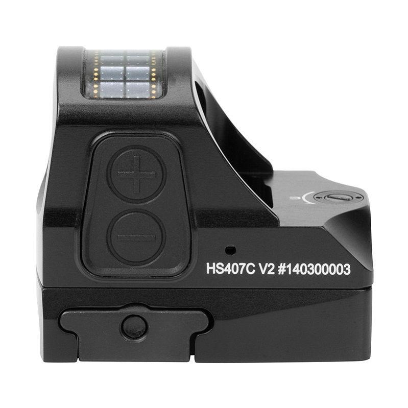 Коллиматорный прицел Holosun Open Reflex micro с солнечной батареей марка красная точка