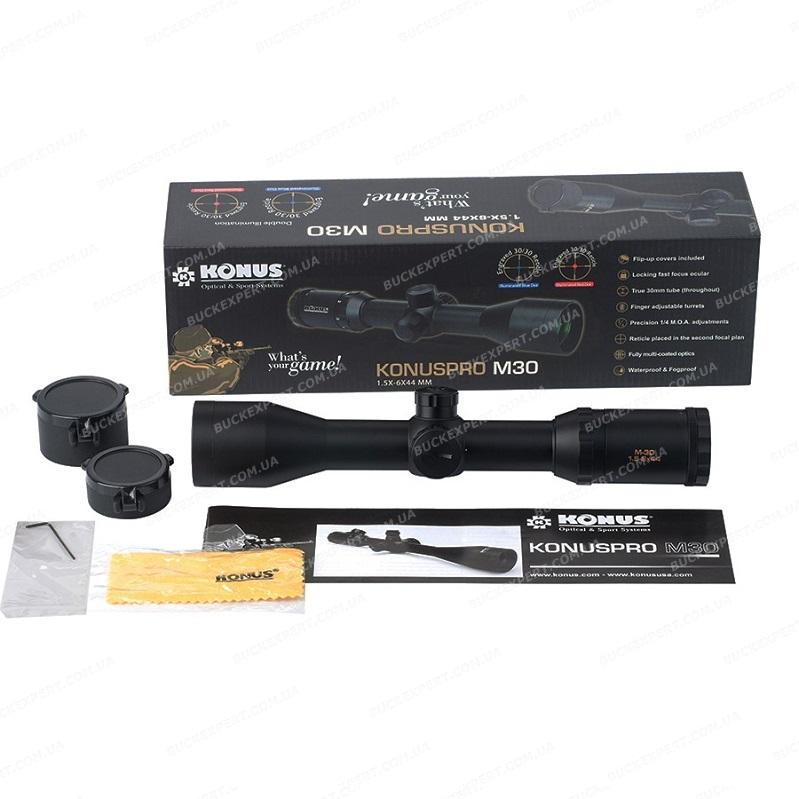 Оптический прицел Konus Konuspro M30 1.5-6x44 сетка 30/30 IR с подсветкой